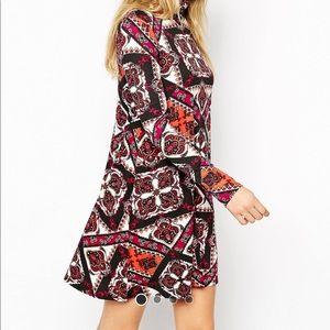 NWT ASOS long sleeved paisley dress